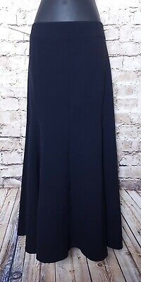 JM Collection Midi Skirt A Line Black Womens Size 12 Flowy Retail $54