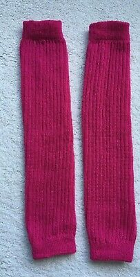 Leg Warmers Fuchsia Pink Soft Stretchy Knit 17