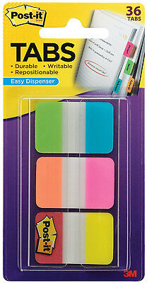 3m Post It Tabs 1 X 1.5 Writable Repositionable 6 Full Bright Colors 36pk