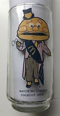 Vintage McDonalds Mayor McCheese Collector Series Drinking Glass 1977