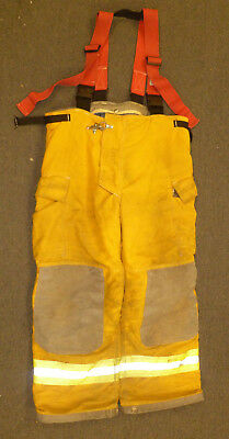 42-r Pants With Suspenders Firefighter Turnout Bunker Fire Gear Innotex P885