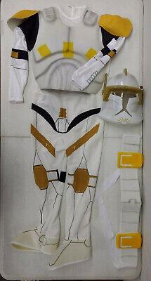 Star Wars Clone Trooper Deluxe Child Costume (Star Wars Deluxe Yellow Clone Trooper Commander Cody Child Costume Size)