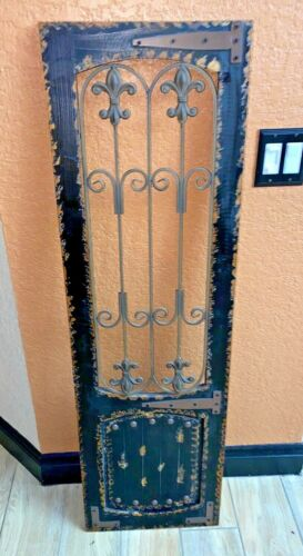 VTG   Grate Grill Maltese Cross Gothic WALL HANGING  51x15.5