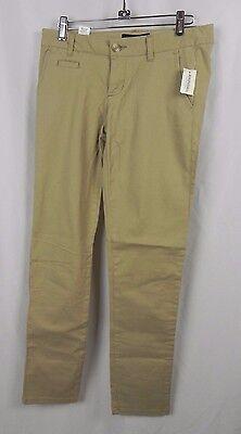 NEW Aeropostale Low Rise Skinny Fit Medium Brown Khaki Twill Pants (A1-11)