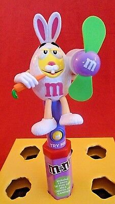 M&M's Yellow M&M Easter Bunny with Carrot Personal Fan - Personalized M&m