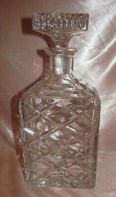 Caraffa Whisky Bottiglia Quadrato IN Cristallo Sfaccettato