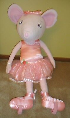 """Angelina Ballerina Dance With Me Plush Mouse Pink 38"""" Life Size American Girl"""