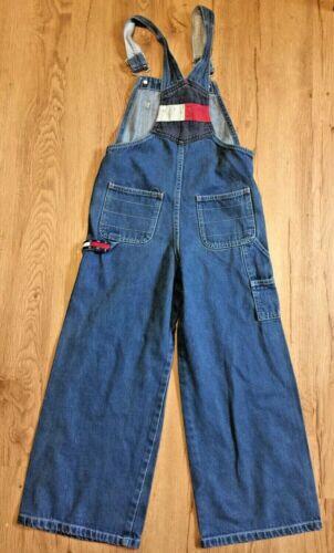 Tommy Hilfiger Denim Overalls Unisex PS Vintage Wide Leg Cargo Flag Spell Out