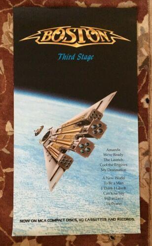 BOSTON  Third Stage  rare original promo poster from 1986