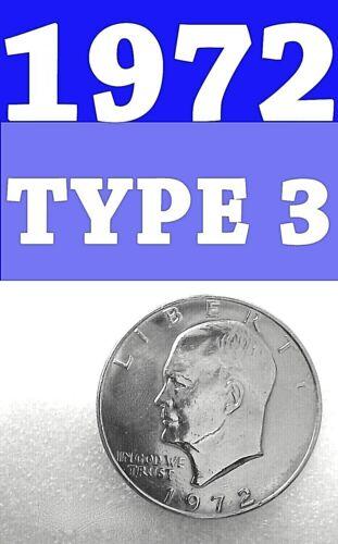 1972-P EISENHOWER T-3 BRIGHT CLEAR UNCIRCULATED DOLLAR===BU===C/N===
