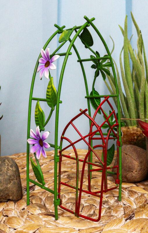 Ebros Enchanted Mini Fairy Garden Accessories Decorative Metal Garden
