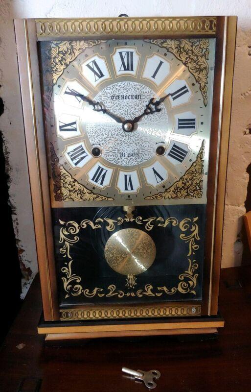 vintage overocean Japan mechanical wall mantel clock