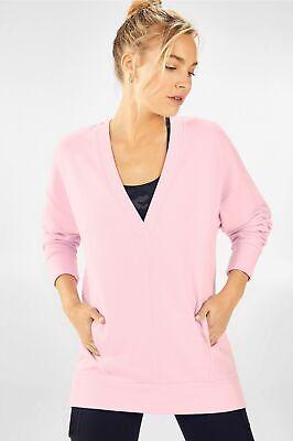Fabletics Rosaline V-Neck Pullover Light Petal Size Medium NWT $69.95
