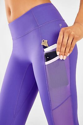 NWT - FABLETICS Womens TRINITY Electric Violet MID RISE POCKET 7/8 LEGGING - XXS