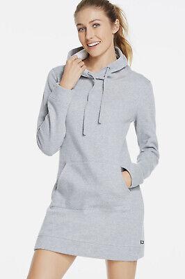 Fabletics Yukon Sweater Knit Dress Heather Grey Size M UK 12 rrp £82 DH097 CC 12