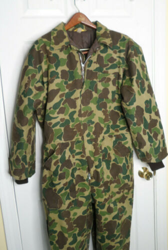 Vintage Ranger Insulated Camo Coveralls Mens L Hunting