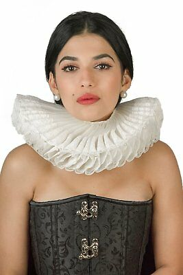 Elizabethan Costume Renaissance Fancy Black Halloween Tudor Ruff Accessories