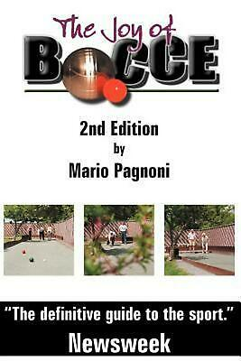 Bocce Book - The Joy of Bocce - 2nd Edition by Mario Pagnoni (English) Paperback Book Free Sh
