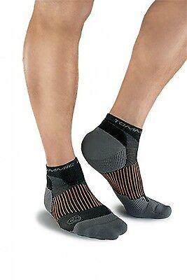 3 Pair Tommie Copper Men's Athletic Ankle Compression Socks Large