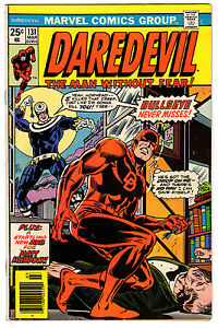 DAREDEVIL #131 3.0 OFF-WHITE PAGES BRONZE AGE 1ST BULLSEYE