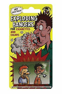 Cigarette Exploding Bangers 10pk Cigarette Joke Prank Trick Novelty Smoke Bang