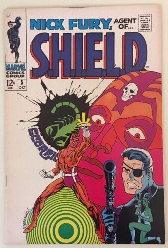 Marvel Comics NICK FURY AGENT OF SHIELD #5 VF/NM1968 STERANKO