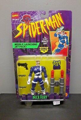 TOY BIZ SPIDER-MAN ANIMATED SERIES NICK FURY ACTION FIGURE AVENGERS INFINITY WAR