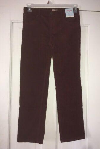 Cat And Jack Boys Size 14 Red Straight Leg Adjustable Waist Corduroy Pants