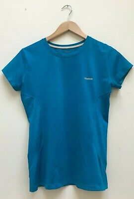Reebok Ladies Blue Play Dry Gym Running Short Sleeve Training Top Size Large for sale  Shipping to South Africa