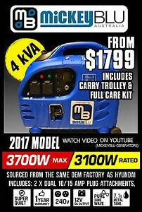 CAMPING 4KVA PURE SINEWAVE MICKEYBLU GENERATOR HYUNDAI SOURCED. Midvale Mundaring Area Preview