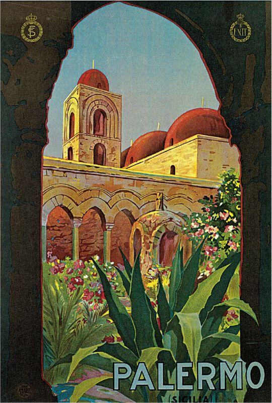 1925 Palermo Sicilia Italy Art Travel Advertisement Poster Print