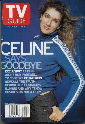 Celine Dion SWEET 1999 TV GUIDE w/CELINE COVER/CELINE SAYS GOODBYE/SUPER CLEAN!!