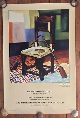 Meridian International Cuba Contemporary Painting Exhibit Poster Reinaldo Avila