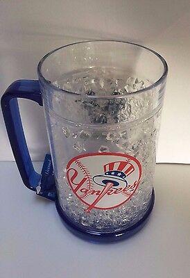 New York Yankees MLB Crystal Mug Acrylic Freezer Beer Cup Tumbler Holder Judge