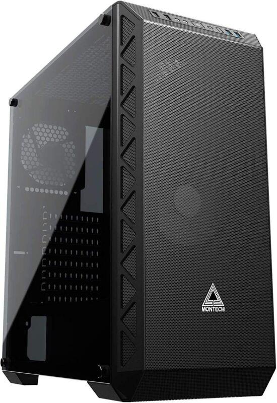 Montech Air 900 Mesh Black ATX Mid Tower EATX Computer Gaming Glass Case w/ Fan