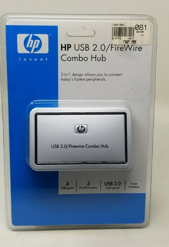 HP Invent USB 2.0/FireWire Combo Hub -  Pj487AA - New Sealed