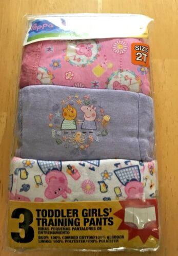 Peppa Pig Size 2T Training Pants NWT Factory Sealed