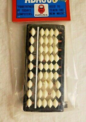FACTORY SEALED Vintage DARUMA 9 Column ABACUS with book - Made in Japan - UNUSED