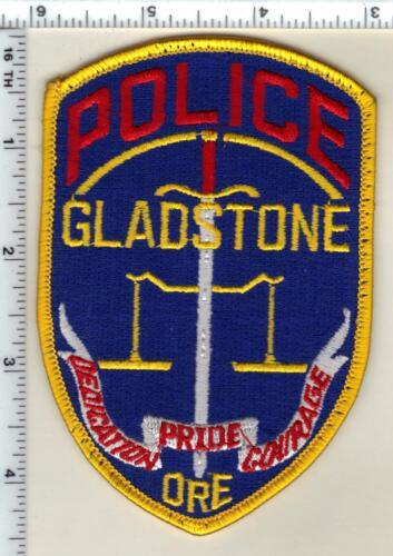 Gladstone Police (Oregon) Uniform Take Off Shoulder Patch from 1990