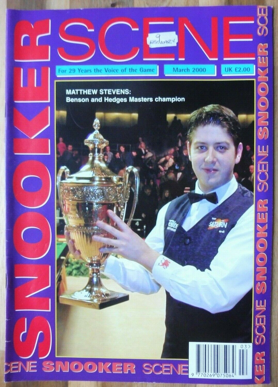 Snooker Scene Magazine, March 2000, Good Condition.