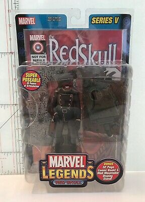 "Marvel Legends 6"" RED SKULL Series V 5 Figure Brand New ToyBiz 2003 With Diorama"