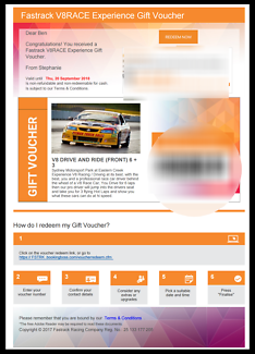 V8 Driving Experience Voucher