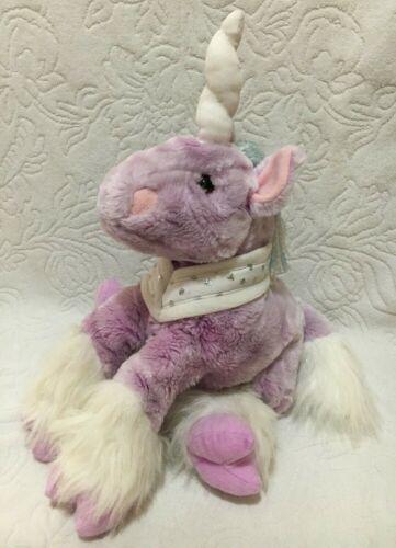 "Retired Toys R Us Animal Alley Pastel Purple Unicorn 15"" Plush Toy Horse"