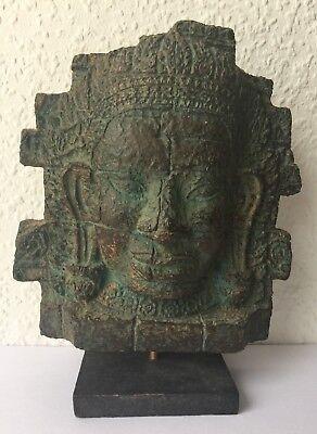 Rare Bayon Temple Angkor Thom Khmer Paper Mache Recycled Original Cambodia