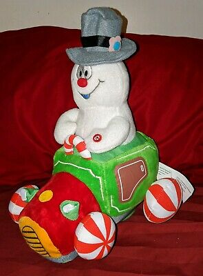 Christmas Animated Musical Talking Singing Frosty The Snowman Plush Car RARE HTF