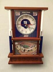 New York Giants Meadowlands Desk Clock - Danbury Mint