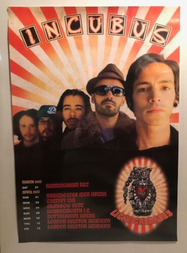 Incubus European Tour 2007 Vintage Promo Poster And Incubus Band Poster