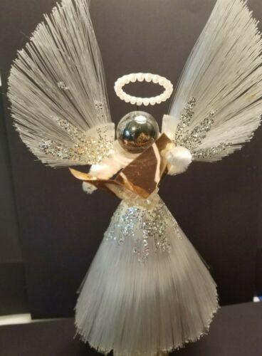 "MID-CENTURY MODERNIST STLYE FIBER GLASS  ANGEL TREE TOPPER - 8"""