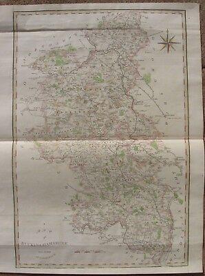 "1806 Folio John Cary Map - BUCKINGHAMSHIRE, ENGLAND - Camden's ""Britannia"""