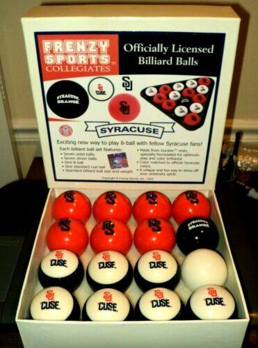 FRENZY SPORTS COLLEGIATES 8-Ball Billiard Set: Syracuse University: Otto: Pool